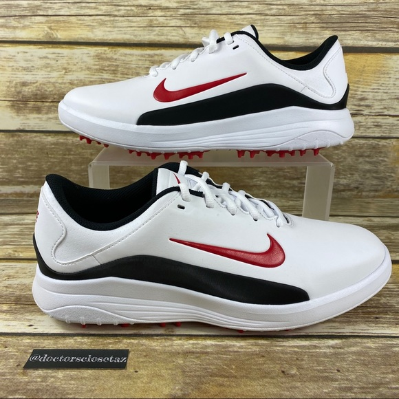 Nike Shoes New Mens Vapor Golf Shoe Spikes White Red Poshmark